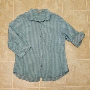 Horny Toad Button down Shirt   Women's Size Medium